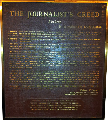 Journalist's Creed
